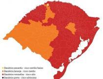 Praticamente 85% da população gaúcha vive nos municípios que têm alto risco de contaminação