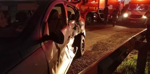 Grave acidente em frente à rodoviária de Ijuí