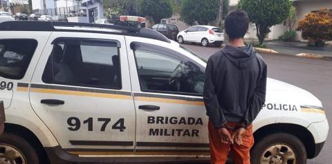 Brigada Militar de realiza prisão de homem procurado na justiça