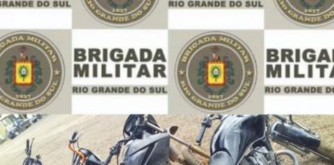7°Batalhão de Polícia Militar recupera motocicleta furtada e apreende outras três motocicletas adulteradas