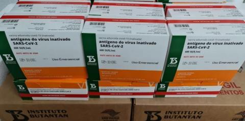 Lote com 63,6 mil doses de Coronavac chega ao RS neste sábado