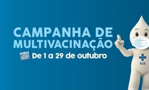 """Campanha Nacional de Multivacinação terá dia """"D"""" em outubro"""