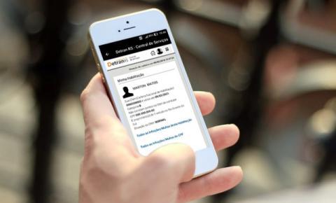 Mais de 77 mil pessoas utilizam serviços online com o DetranRS