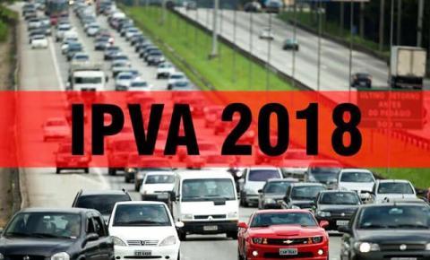 Desconto máximo de 20,8% do IPVA 2018 vence nesta quinta-feira