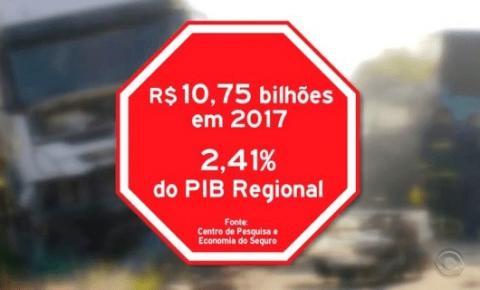 Acidentes de trânsito em 2017 causarão impacto de R$ 10,75 bilhões no RS, diz pesquisa