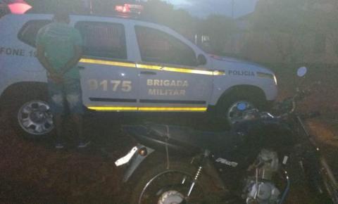 BM prendeu foragido do sistema prisional e recupera motocicleta furtada na cidade de Santo Augusto, em Tenente Portela