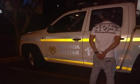 Brigada Militar prende homem com objetos ilícitos em Tenente Portela
