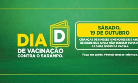 Sábado será Dia D de vacinação contra sarampo