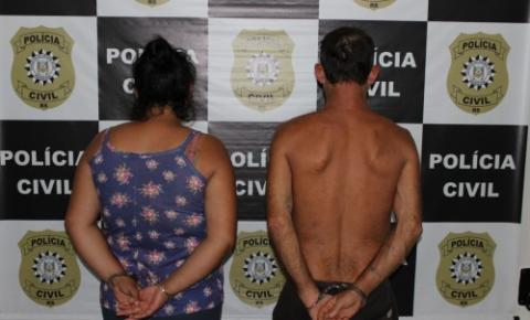 Casal suspeito de tráfico de drogas foi preso em Três Passos