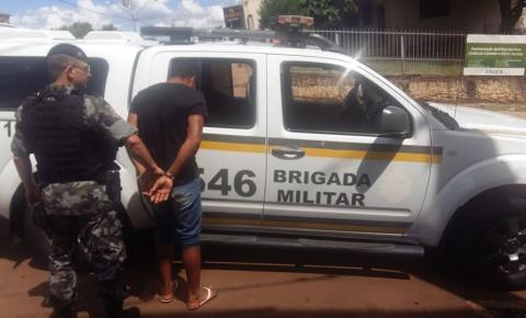 Brigada Militar prende procurado da justiça em Miraguaí