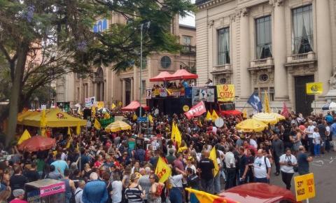 Adesão à greve do Magistério se mantém estável após decisão que valida corte de ponto