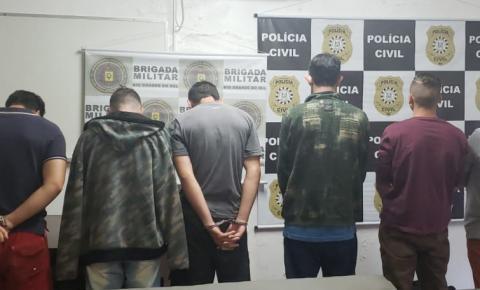 Polícia prende grupo suspeito de envolvimento com tráfico de drogas em Santo Augusto