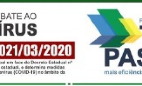 Prevenção e Combate ao Coronavírus - Decreto Municipal 021/03/2020