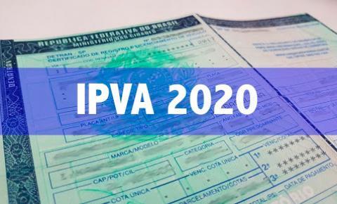 Começa prazo final para pagamento do IPVA 2020 pelo número da placa