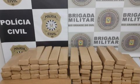Brigada Militar em operação conjunta com a Polícia Civil prendem quatro homens por tráfico de drogas