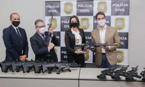 Polícia Civil gaúcha comemora 179 anos e recebe 200 novos fuzis e submetralhadoras