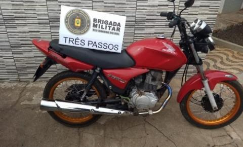 BM apreende desodorantes e recupera uma motocicleta furtada em Três Passos