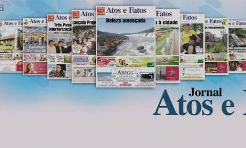 Manchetes do Jornal Atos e Fatos que está circulando nesta sexta-feira em Três Passos e Região Noroeste