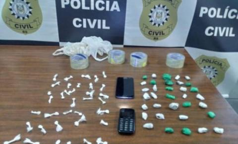 Polícia Civil prende em flagrante mulher por tráfico de drogas em Três de Maio