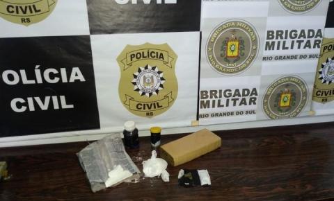 Brigada Militar e Polícia Civil prendem homem por tráfico de Drogas em Três Passos
