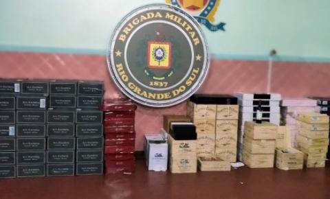 Brigada Militar apreende mais de mil garrafas de bebidas de origem de descaminho em Campo Novo