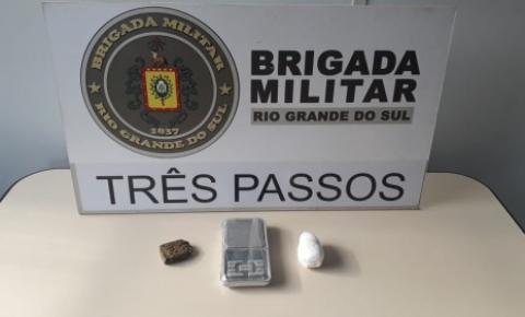 Brigada Militar apreende dois adolescentes e prende jovem por tráfico de drogas em Três Passos