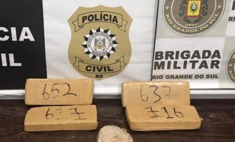 Brigada Militar e Polícia Civil realizaram prisão pro tráfico de drogas em Três Passos