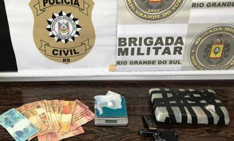 Três Passos: Policia Civil e Brigada Militar efetuaram a prisão de dois indivíduos por Tráfico de drogas