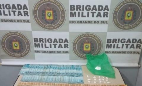 Brigada Militar prende homem por tráfico de drogas em Três Passos