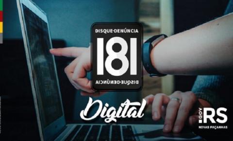 Saiba como usar o Denúncia Digital 181 e colabore com a Segurança no RS