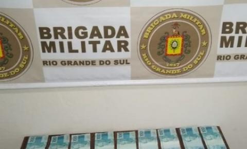 Brigada Militar prende homem e apreende notas falsas em Santo Augusto