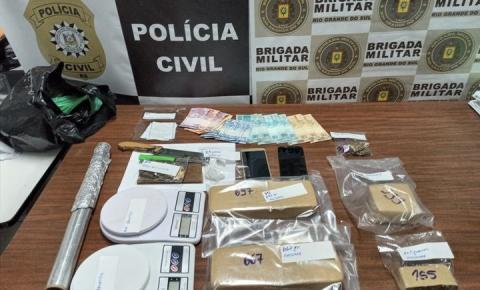 BM e PC em ação conjunta prendem dupla por tráfico de drogas em Três de Maio
