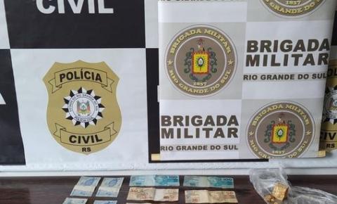 Brigada Militar e Polícia Civil prendem dois homens por tráfico de drogas em Três Passos