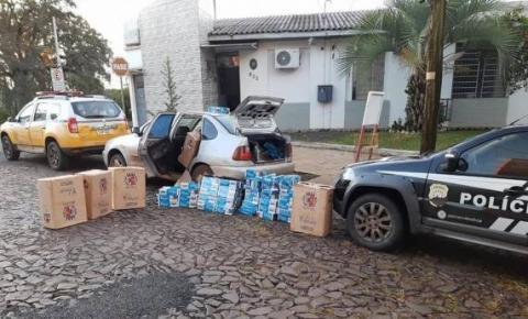 Pelotão Rodoviário de Santo Augusto e Polícia Civil  apreendem contrabando