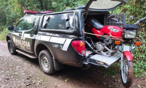 Moto furtada é recuperada eM Tiradentes do Sul