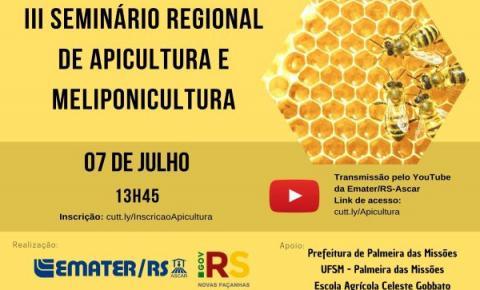 Palmeira das Missões sedia Seminário Regional de Apicultura e Meliponicultura