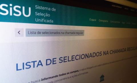 Inscrição para processo seletivo do Sisu 2021 termina nesta sexta-feira