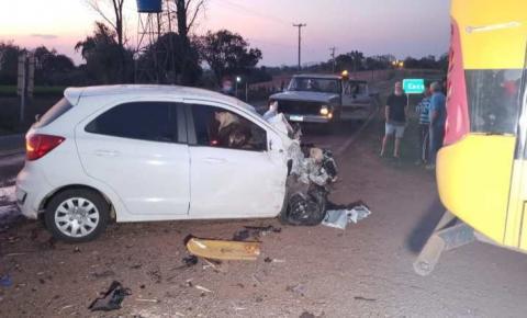 Condutor fica ferido em grave acidente na RSC 163 em Barra do Guarita