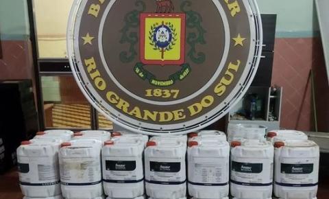 Brigada Militar apreende carga contrabandeada de agrotóxicos em Tenente Portela