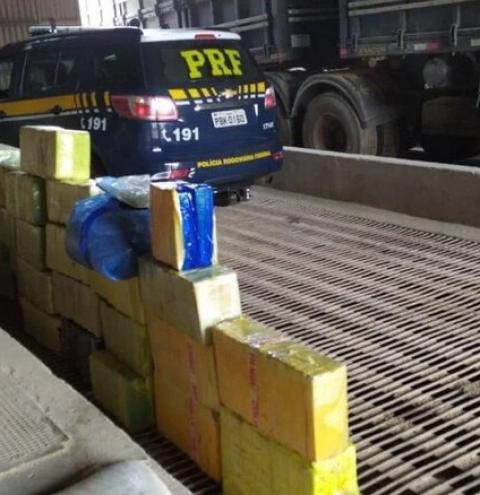PRF e BM apreendem mais de 1 tonelada de maconha em Seberi