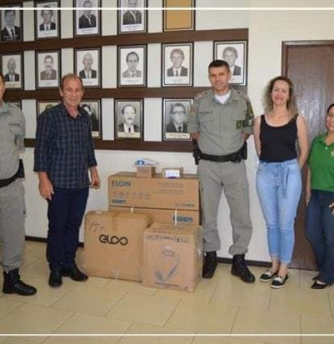 Brigada Militar de Crissiumal recebe equipamentos do Município