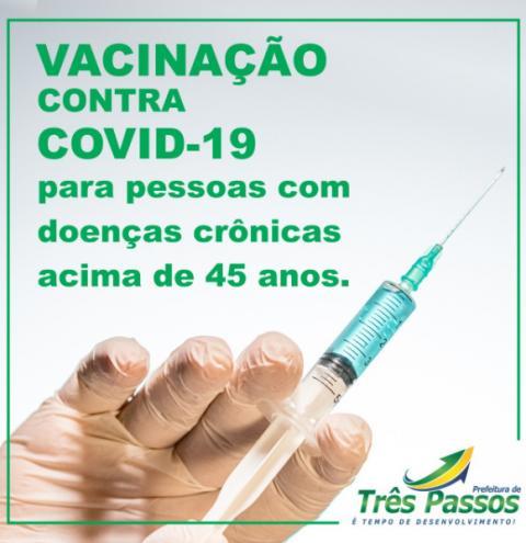 SECRETARIA MUNICIPAL DE SAÚDE DE TRÊS PASSOS PROSSEGUE A VACINAÇÃO CONTRA A COVID-19