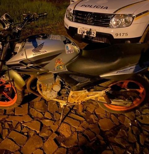 Brigada Militar em Tenente Portela recupera motocicleta furtada