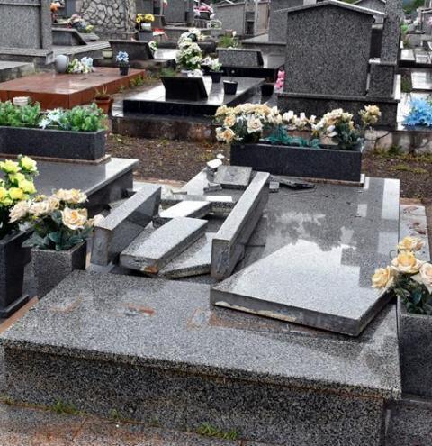 Temporal provoca estragos no Cemitério Municipal de Três Passos